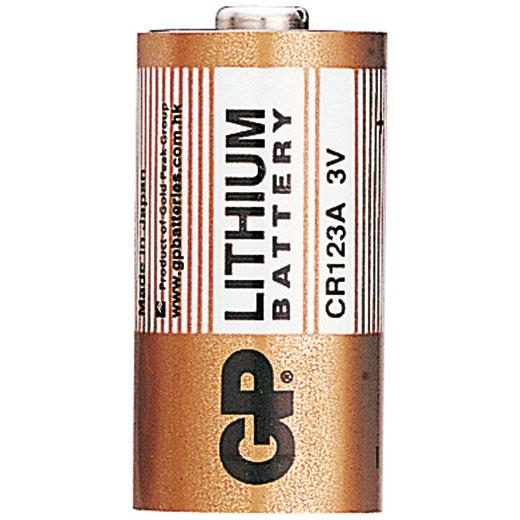 Батарейка дисковая литиевая GP CR123A-BC1 (фото, вид 1)