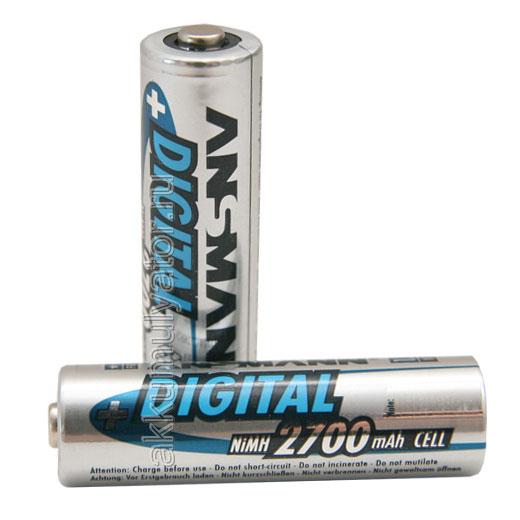 Аккумулятор цилиндрический ANSMANN 2700 AA BL2 (фото, вид 1)