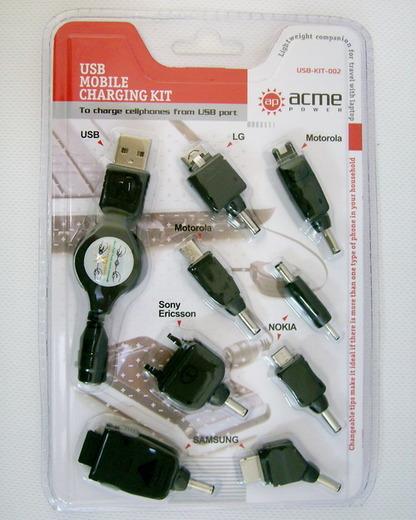 Комплект переходников для сотовых телефонов USB-KIT-002 (фото)