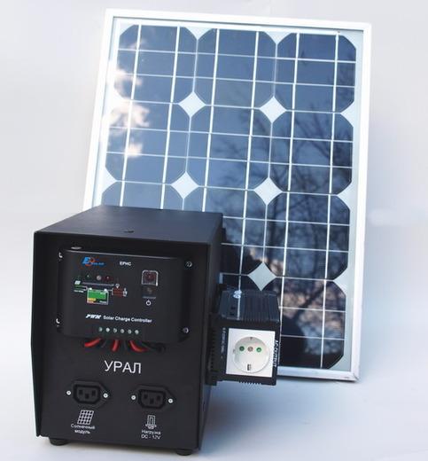 Солнечная энергосистема УРАЛ (фото)