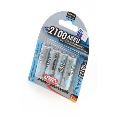 Аккумулятор предзаряженный ANSMANN maxE AA 2100 blue BL4 5035052