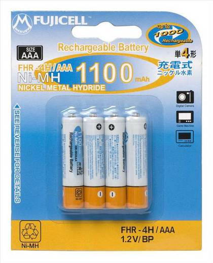 Аккумулятор Fujicell NiMH Rechargeable AAA 1100mAh bl4 FHR-4H-AAA