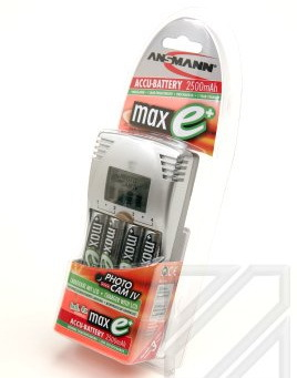 Зарядное устройство ЗУ с аккумуляторами ANSMANN PHOTO CAM IV/2500 maxE 5317263 BL1