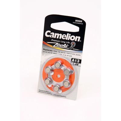 Батарейка воздушно-цинковая Camelion A13-BP6 BL6