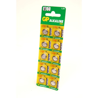 Батарейка алкалиновая часовая GP Alkaline cell 191-C10 AG8 BL10