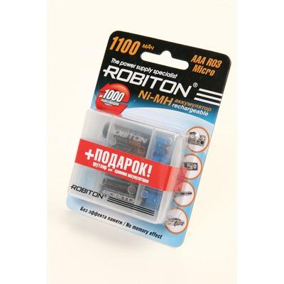 Аккумулятор Ni-MN ROBITON 1100MHAAA-4/box BL4