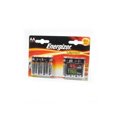 Батарейка бытовая стандартных типоразмеров Energizer ULTRA+ made in USA LR6 BL8
