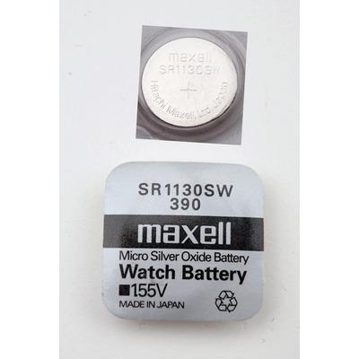 Батарейка серебряно-цинковая часовая MAXELL SR1130SW 390