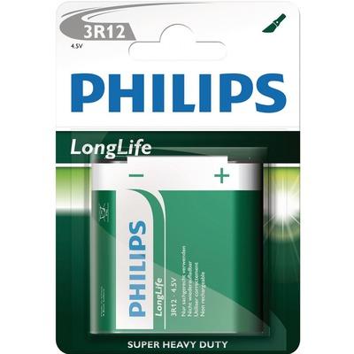 Батарейка Батарея PHILIPS 3R12 LONGLIFE BL1 (фото)