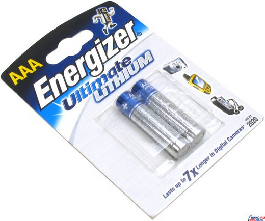 Батарейка Элемент питания Energizer UL L92 BL2