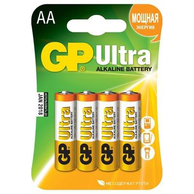 Батарейка бытовая стандартных типоразмеров GP 15AU-U4 Ultra
