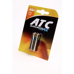 Батарейка бытовая стандартных типоразмеров ATC Alkaline MAX LR03 BL2