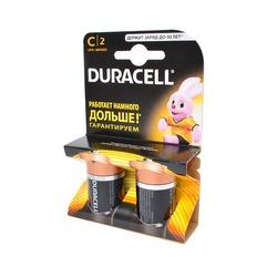 Батарейка бытовая стандартных типоразмеров DURACELL LR14 BL2