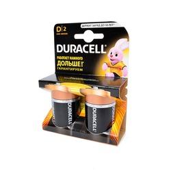 Батарейка бытовая стандартных типоразмеров DURACELL LR20 BL2