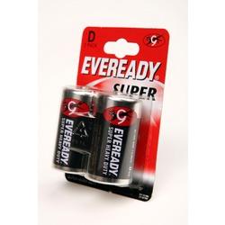 Батарейка бытовая стандартных типоразмеров EVEREADY R20 Super HD BL2