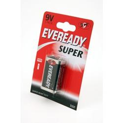 Батарейка бытовая стандартных типоразмеров EVEREADY Super Heavy Duty 6F22 BL1