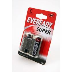 Батарейка бытовая стандартных типоразмеров EVEREADY Super Heavy Duty R14 BL2