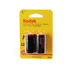 Батарейка бытовая стандартных типоразмеров Kodak Extra Heavy Duty R14 BL2