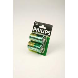 Батарейка бытовая стандартных типоразмеров PHILIPS LONGLIFE R20 BL2