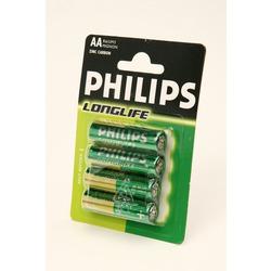 Батарейка бытовая стандартных типоразмеров PHILIPS LONGLIFE R6 BL4