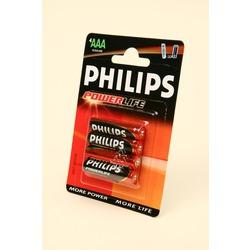 Батарейка бытовая стандартных типоразмеров PHILIPS POWERLIFE LR03 BL4