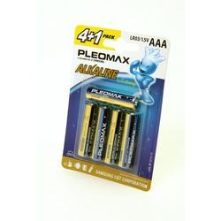 Батарейка бытовая стандартных типоразмеров PLEOMAX samsung LR03-4+1 BL5