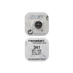Батарейка серебряно-цинковая часовая RENATA SR714SW 341, в упак 10 шт