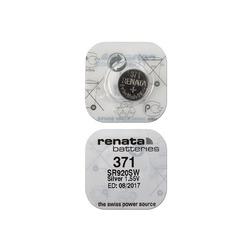 Батарейка серебряно-цинковая часовая RENATA SR920SW 371, в упак 10 шт