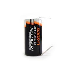 Батарейка литиевый спецэлемент ROBITON ER26500-FT C с лепестковыми выводами