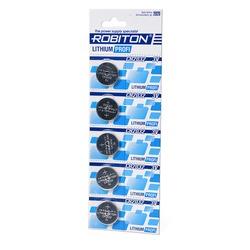 Батарейка дисковая литиевая ROBITON PROFI R-CR2032-BL5 CR2032 BL5