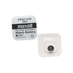 Батарейка серебряно-цинковая часовая MAXELL SR621SW 364 S621L-SG1