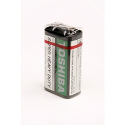 Батарейка бытовая стандартных типоразмеров TOSHIBA 6F22KGG SUPER HD SR1