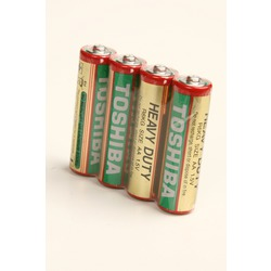 Батарейка бытовая стандартных типоразмеров TOSHIBA Heavy Duty R6 SR4, в упак 40 шт