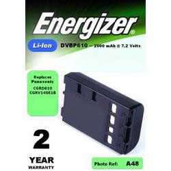Аккумулятор для фото и видеокамер Energizer DVBP610 (Panasonic CGR-V610) в/камеры BL P/Li2000/7.2V