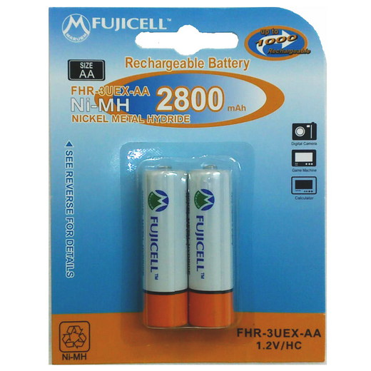 Аккумулятор Fujicell NiMH Rechargeable AA 2800mAh bl2 FHR-3UEX-AA