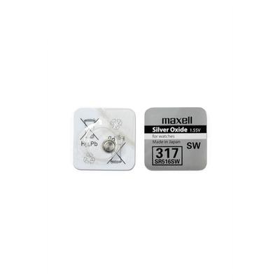 Батарейка серебряно-цинковая часовая MAXELL SR516SW 317