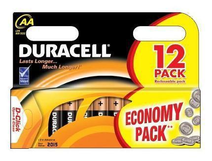 Батарейка DURACELL Basic AA LR6 BL12
