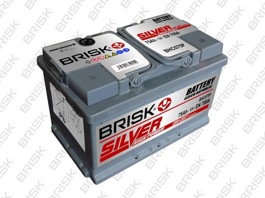 Аккумулятор автомобильный Аккумулятор BRISK SILVER 75 А/ч