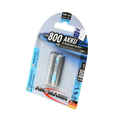 Аккумулятор предзаряженный ANSMANN maxE AAA 800 BL2 5030982