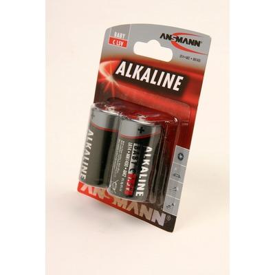 Батарейка бытовая стандартных типоразмеров ANSMANN RED 1513-0000 LR14 BL2