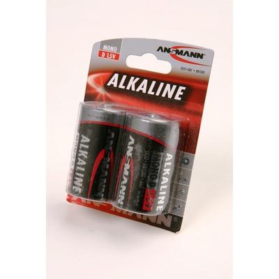 Батарейка бытовая стандартных типоразмеров ANSMANN RED 1514-0000 LR20 BL2