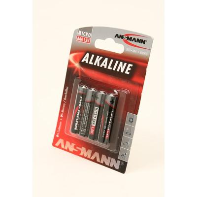 Батарейка бытовая стандартных типоразмеров ANSMANN RED 5015553 LR03 BL4