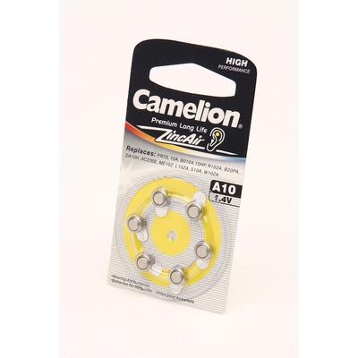 Батарейка воздушно-цинковая Camelion A10-BP6 BL6
