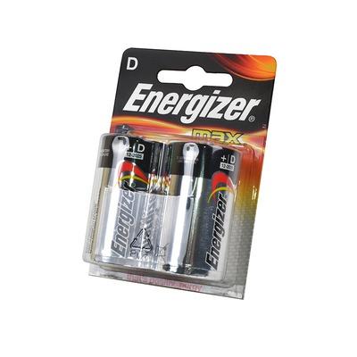 Батарейка бытовая стандартных типоразмеров Energizer MAX LR20 BL2