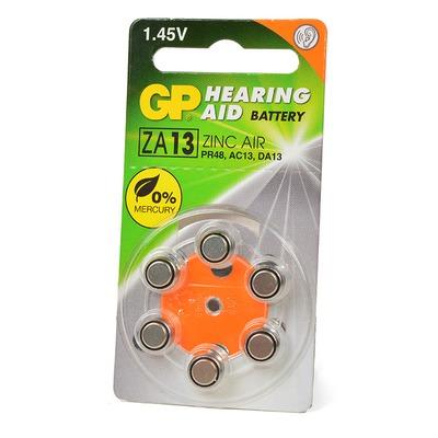 Батарейка воздушно-цинковая GP Hearing Aid ZA13F-D6 ZA13 BL6