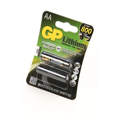 Батарейка бытовая стандартных типоразмеров GP Lithium 15LF-2CR2 FR6 BL2