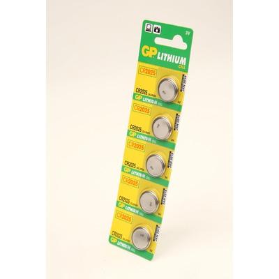 Батарейка дисковая литиевая GP Lithium CR2025-C5 CR2025 BL5