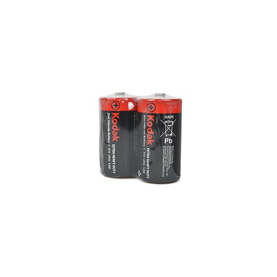 Батарейка бытовая стандартных типоразмеров Kodak Extra Heavy Duty R14 SR2, в упак 24 шт