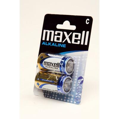 Батарейка бытовая стандартных типоразмеров MAXELL Alkaline LR14 BL2