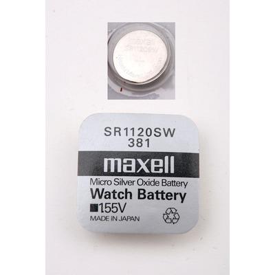 Батарейка серебряно-цинковая часовая MAXELL SR1120SW 381